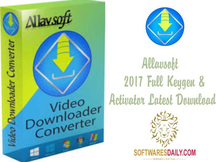 Allavsoft 2017 Full Keygen & Activator Latest Download