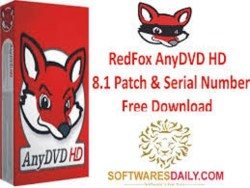 RedFox AnyDVD HD 8.1 Patch & Serial Key Free Download