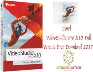 Corel VideoStudioPro X10 Full Version Free Download 2017