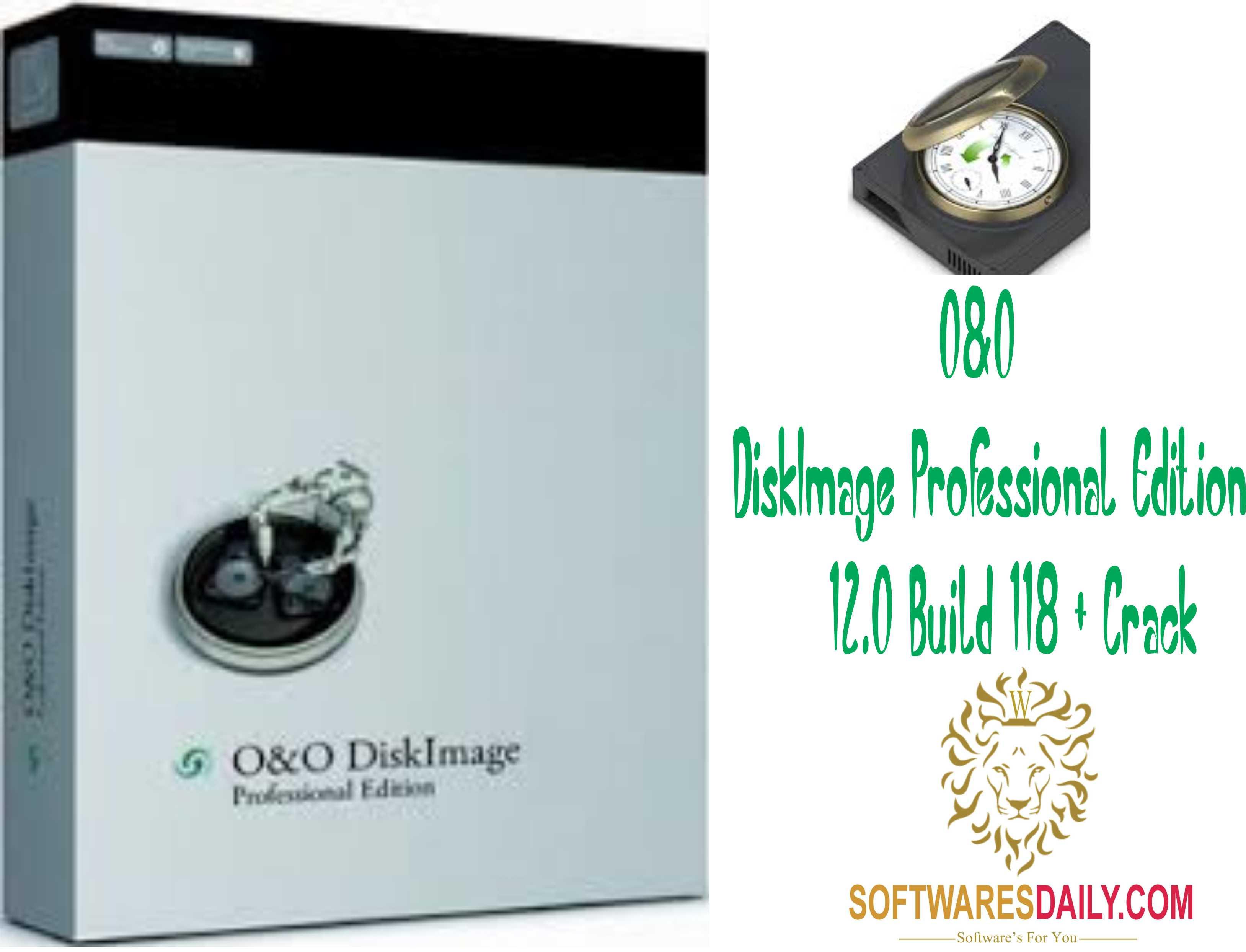O&O DiskImage Professional Edition 12.0 Build 118 + Crack