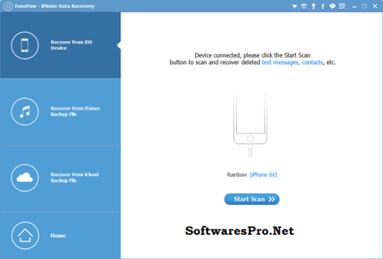 FonePaw iPhone Data Recovery 5 Crack