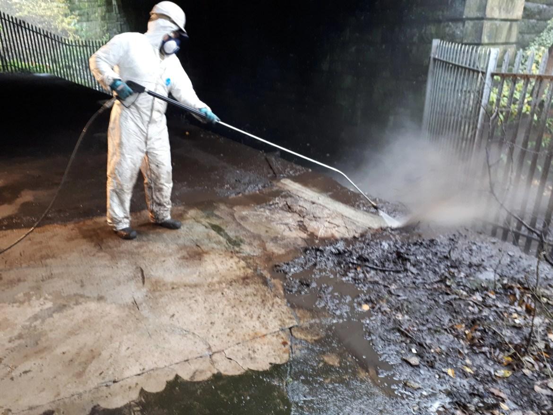Power Washing Bird Waste/Guano removal www.softwashscotland.com