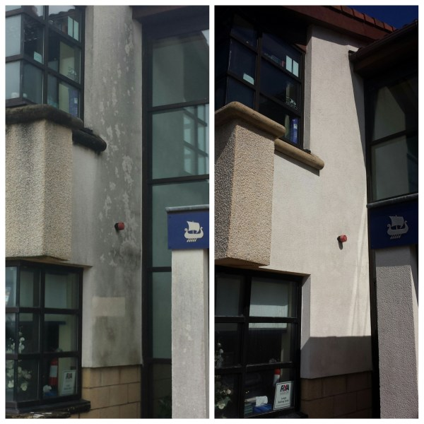 K-Render cleaning in Largs North Ayrshire Image of Roughcast cleaning Scotland image www.softwashscotland.com