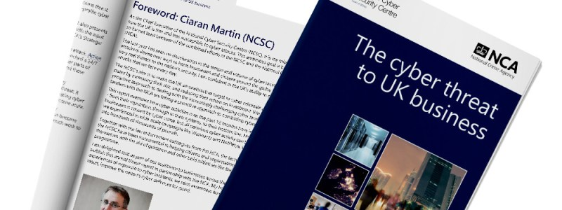 Front cover of NCSC's the cyber threat to UK business