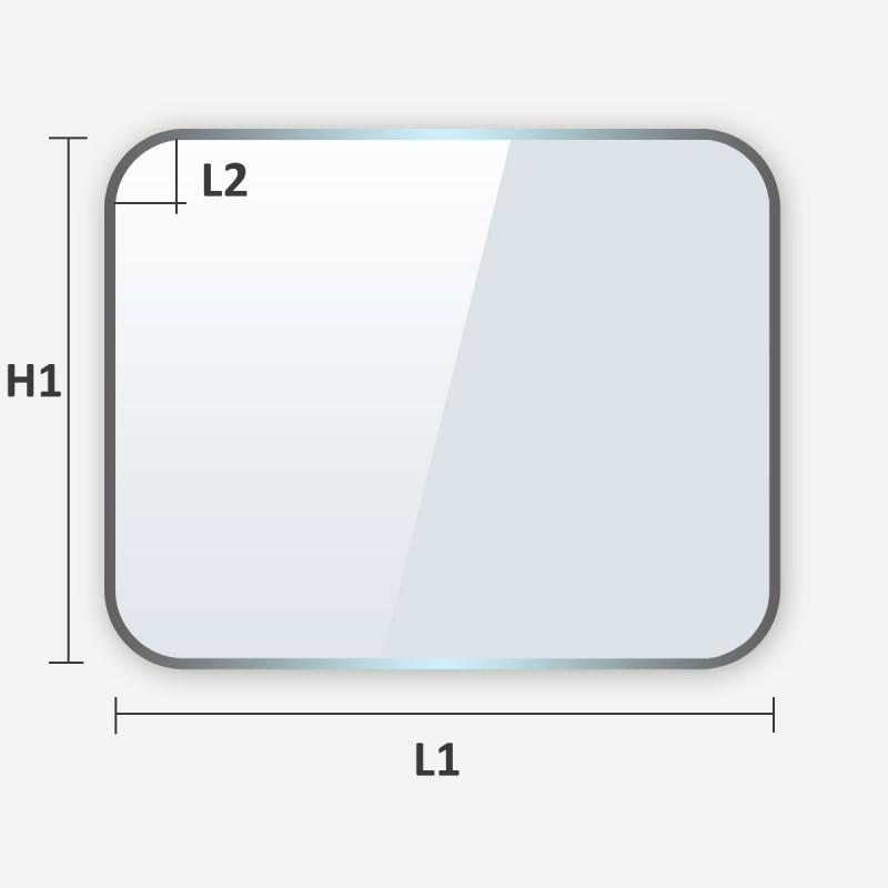 soglass propose la decoupe de verre sur mesure comme verre trempe a coins coupes