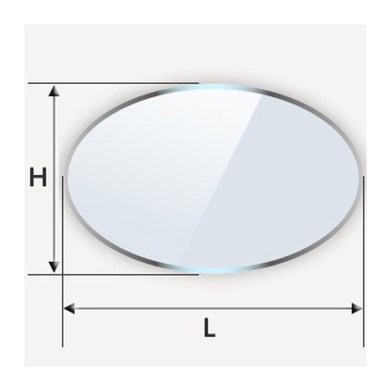 table en verre ovale