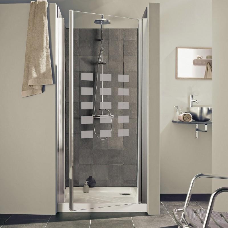 paroi de douche en verre carre rectangle