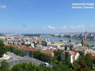 Panorama da cartolina: le due rive e l'isola Margherita
