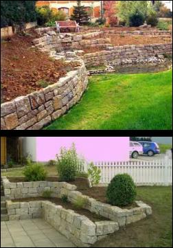 Realizzazione muro a secco  Sogni Verdi  Impresa di