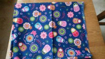 Tissu matriochkas bleu - 68 x 60 cm - 2€