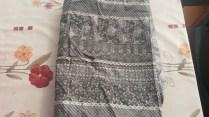 Coton dentelle imprimée - 135 x 115 cm - 5€