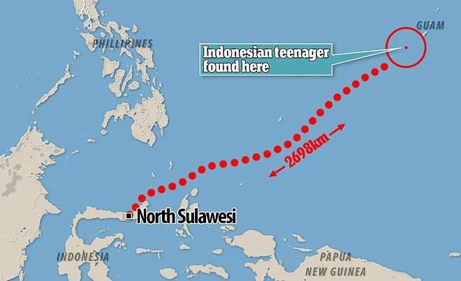 Câu chuyện phi thường: Chàng trai Indonesia uống nước biển, bắt cá bằng tay không sống sót sau 49 ngày lênh đênh giữa biển khơi - Ảnh 1.