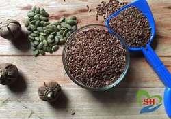 Flax seeds and goron tula pumpkin seeds