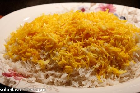 Kokt persisk ris med safran