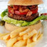 Hjemmelaget baconburger