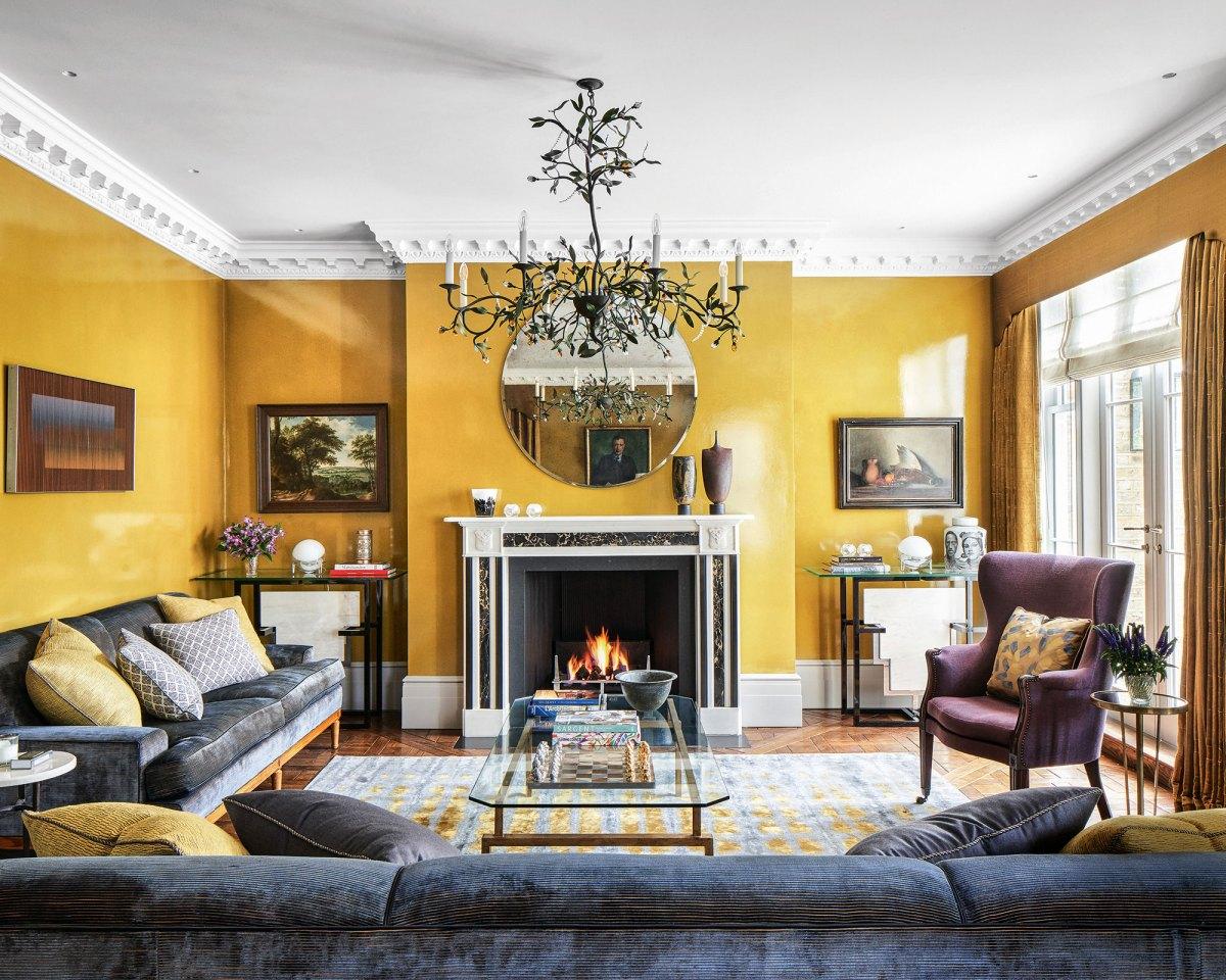 Warm, bright, colorful interior