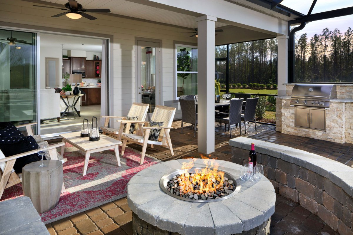 An outdoor fire pit to enjoy outside