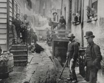 Jacob Riis Photograph in the Slums of New York