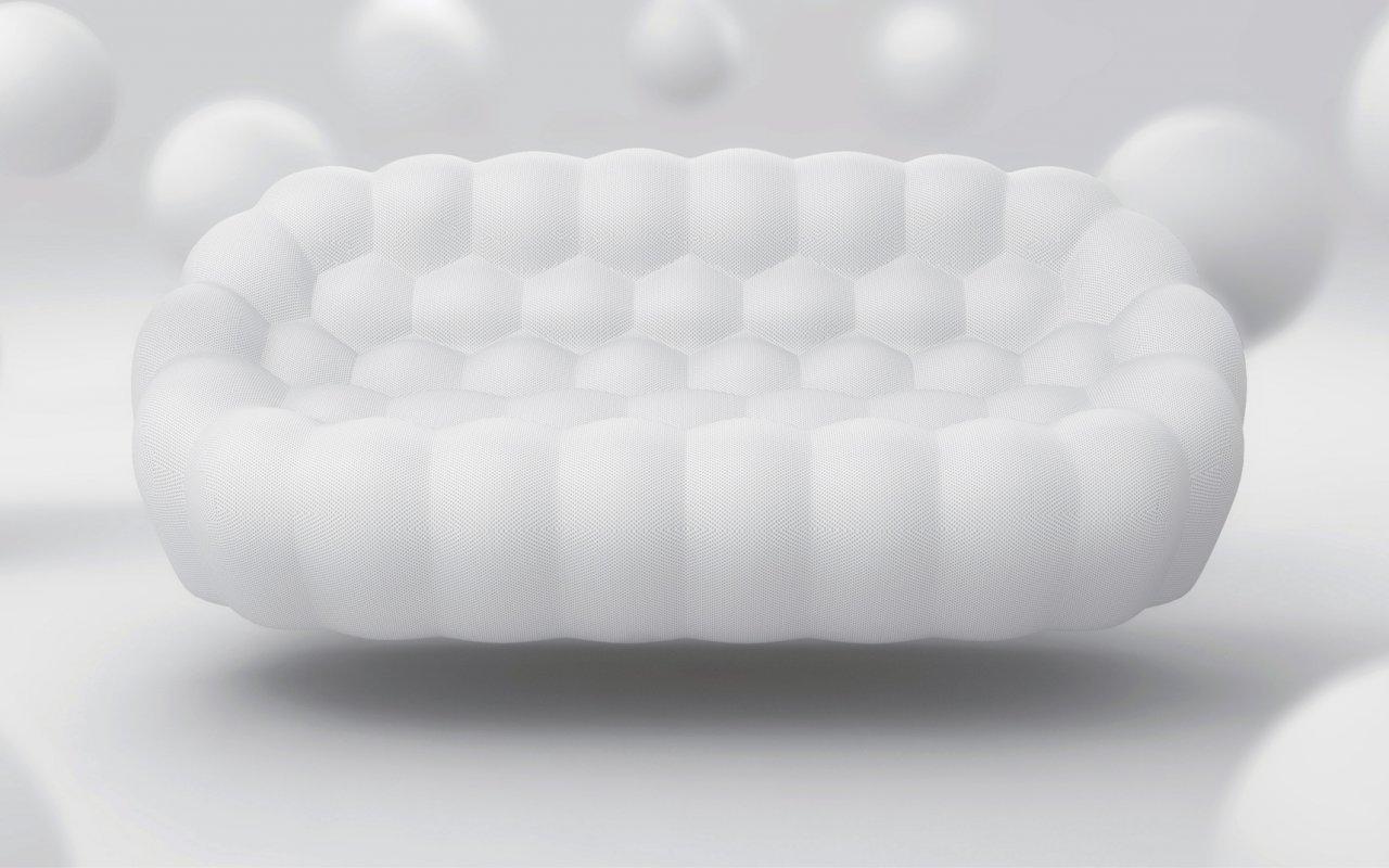 bubble sofa sacha lakic slipcover on leather by design sohomod blog