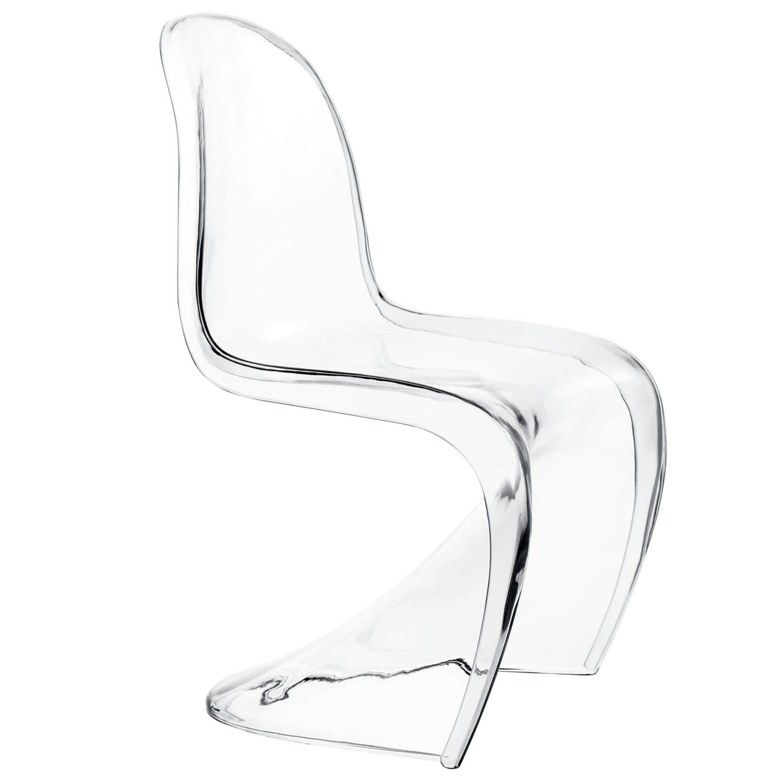Plastic Clear Chair Slither Acrylic Kids Chair Clear By Modway Furniture