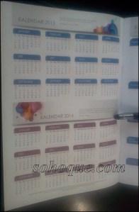 Kalendar 2013 dan 2014 turut dimuatkan