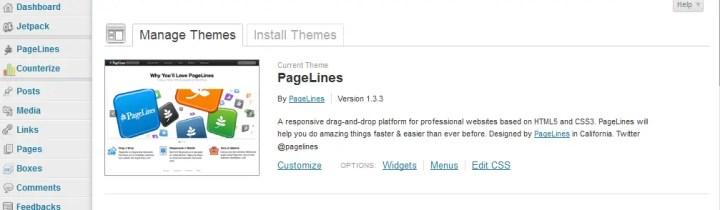 wordpress theme pagelines