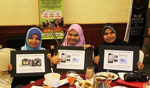 Para pemenang pakej pelancongan di SBB 2013
