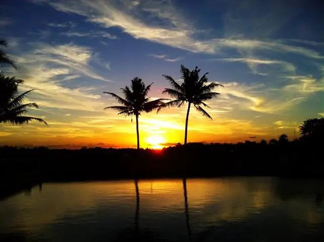 Waktu matahari terbenam