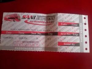 gambar tiket bas