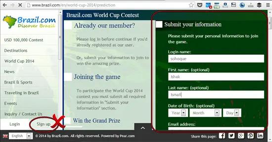 """klik """"Contest Kick Off"""" untuk mendaftar, bukan sign up"""