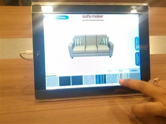 Sofa Maker siap diinstall dalam iPad