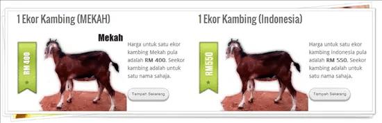 Harga untuk seekor kambing untuk aqiqah dan qurban di Mekah dan Indonesia