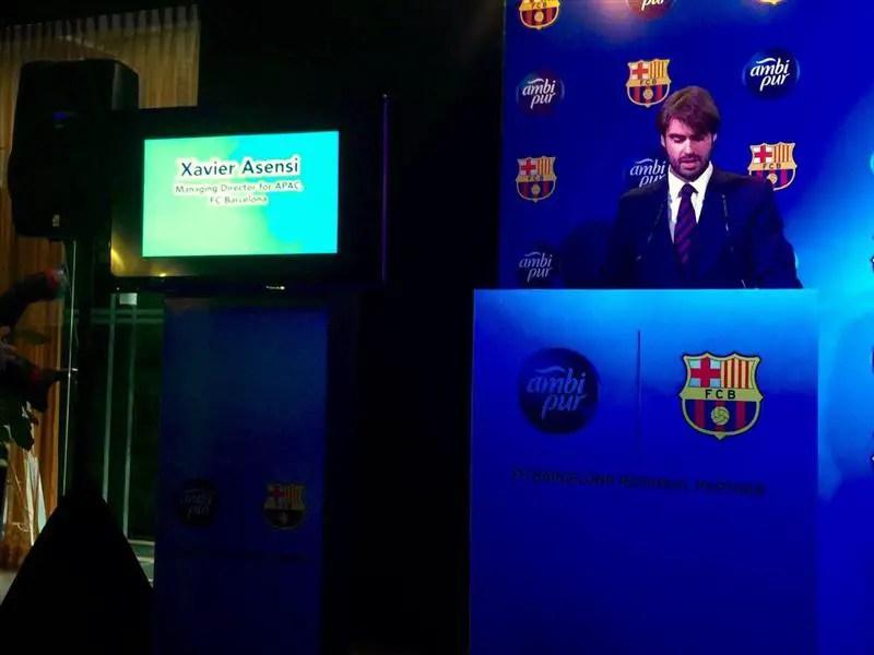 Xavier Asensi, Pengarah FC Barcelona Asia Pasifik