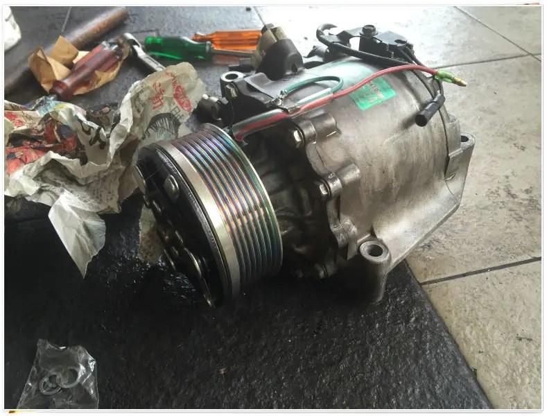 inilah compressor air cond yang rosak tu