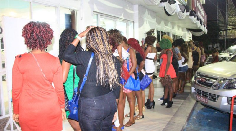 arrested prostitutes in police lineup