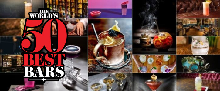 Photo regroupant les plus beaux cocktails des Top 50 des Meilleurs Bar au monde 2019.