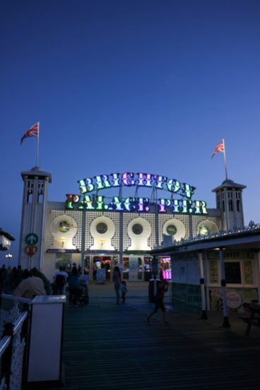 Brighton Palace pier by night