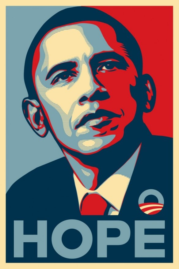 Hope par Shepard Fairey (alias OBEY)