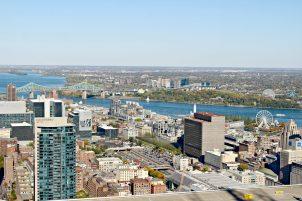 Vue sur Montréal depuis l'Observatoire Ville Marie