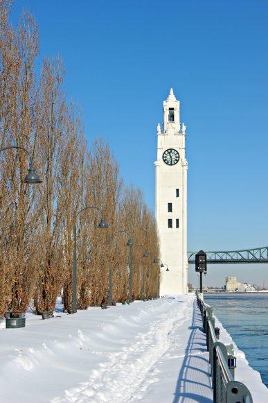 Le quai de l'Horloge en hiver