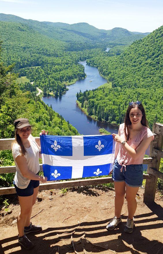 Vive le Québec et bonne St Jean avec mon amie Kelly!