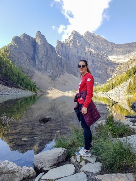Devant le lac Agnès