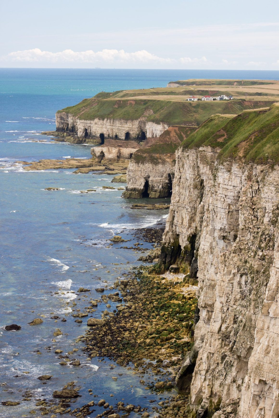 Sentier de Flamborough cliffs a Bempton cliffs