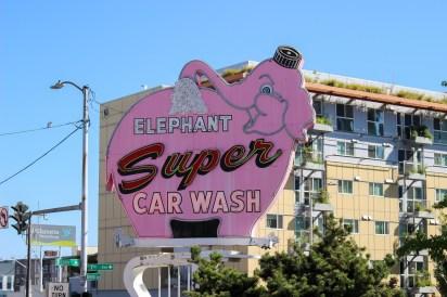 Elephant Super Car Wash sign Seattle