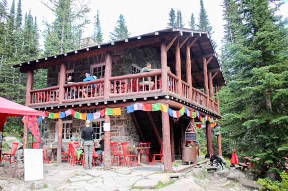 La jolie maison de thé à la Plaine des Six Glaciers