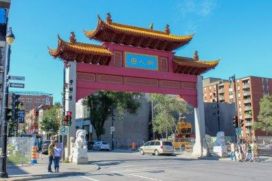 Entrée du quartier chinois de Montréal