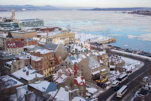 Le Petit Champlain vu depuis la Terrasse Dufferin