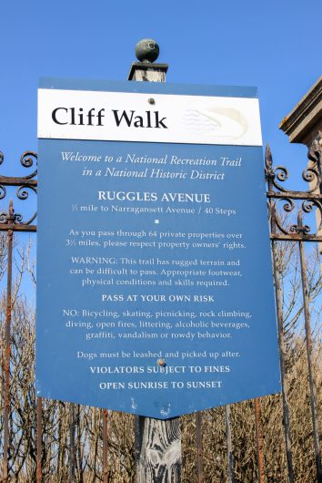 Cliff Walk à Newport