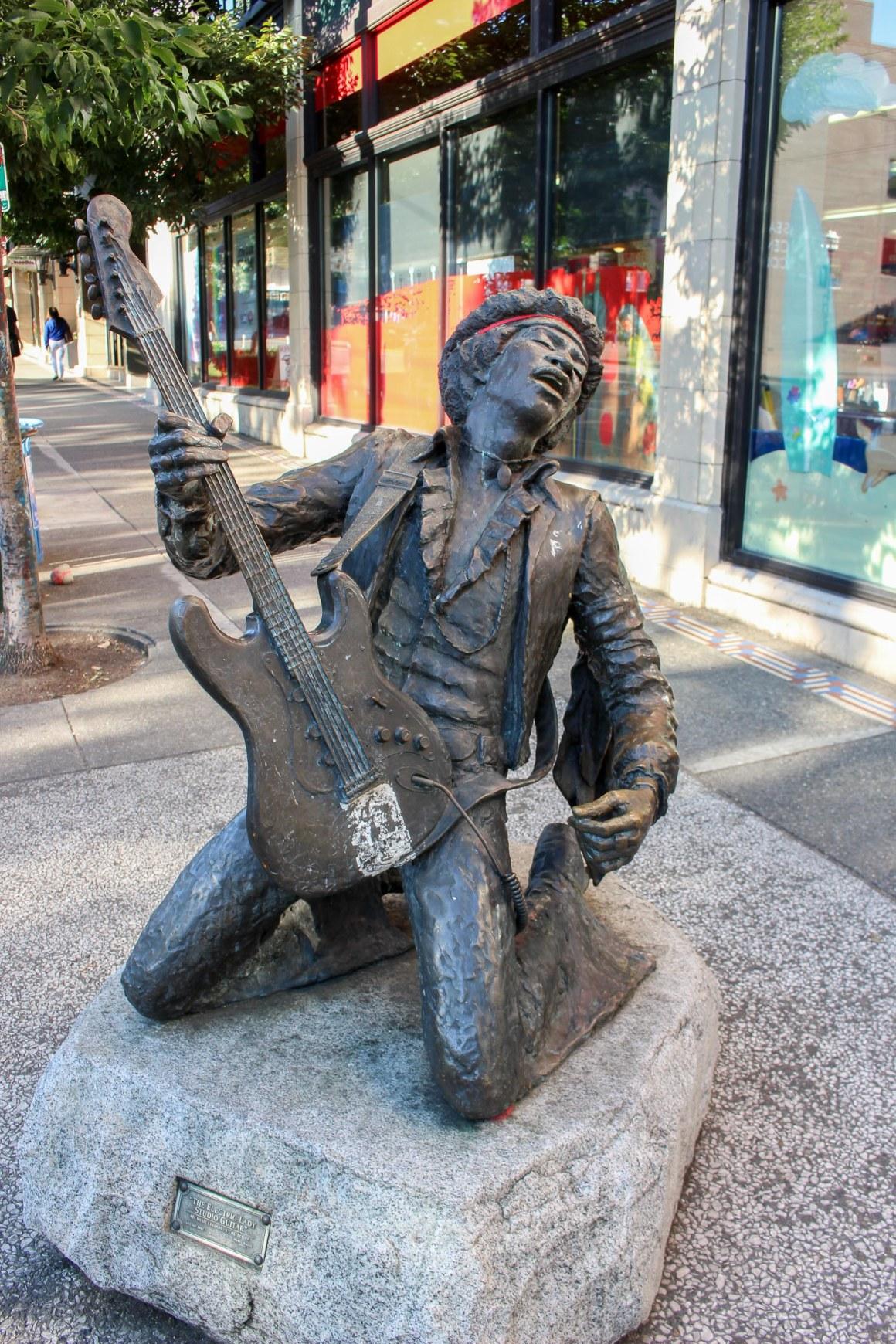 Statue de Jimi Hendrix à Seattle