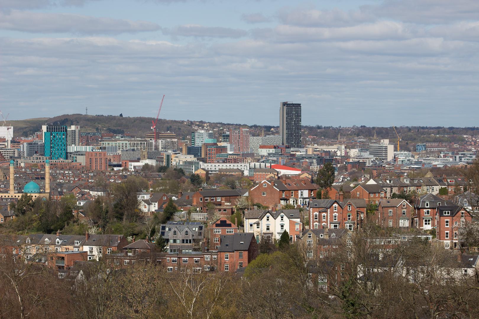 Sheffield depuis Meersbrook Park